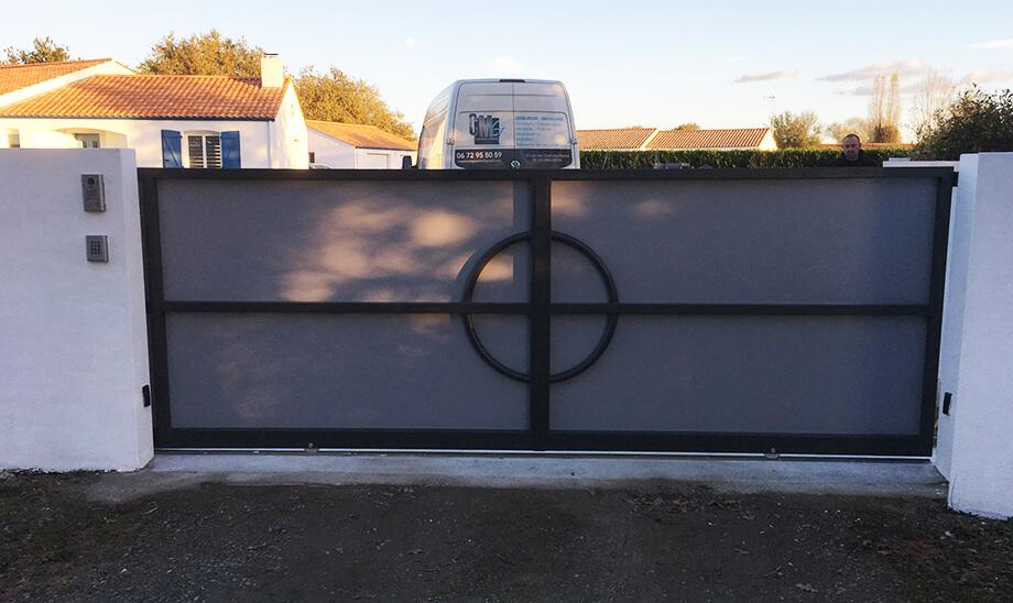 Portails et portillons métalliques fabriqués par CMG métallerie à Falleron 85670